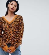Jersey con cuello de pico y diseño animal de ASOS DESIGN Tall