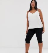 Jeggings capri sin cierres en negro limpio de ASOS DESIGN Curve
