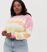 Jersey con diseño teñido anudado de ASOS DESIGN Curve
