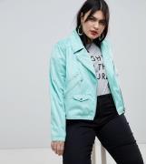 Chaqueta biker de antelina Ultimate de ASOS DESIGN Curve