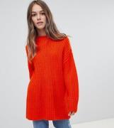 Jersey de canalé grueso de cuello redondo de ASOS DESIGN Petite