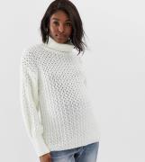 Jersey de cuello alto con detalle de pespunte de ASOS DESIGN Maternity