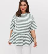 Modelo amplio caqui desgastado con estampado de rayas de ASOS DESIGN C...