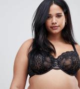 Sujetador con aros inferiores en encaje Roxy de ASOS DESIGN Curve